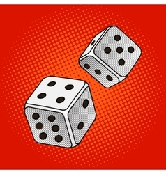 Dice game pop art style vector image vector image