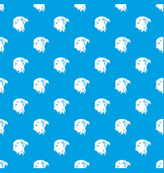 eagle pattern seamless blue vector image vector image