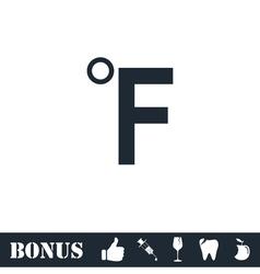 Fahrenheit icon flat vector image vector image