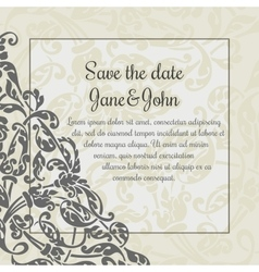 Invitation card template with flower decoration vector image vector image