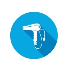 Professional blow hairdryer two-pin plug Round vector image