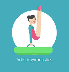 rhythmic gymnastics icon vector image vector image