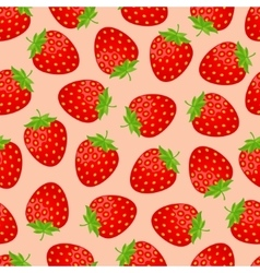 Seamless strawberry pattern vector image vector image