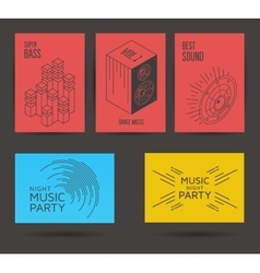 Set of music posters vector image vector image