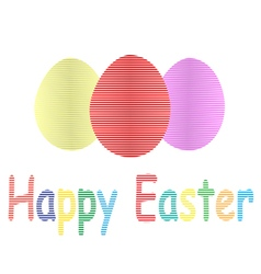 Striped easter eggs vector image vector image