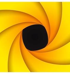 Swirly yellow paper background vector