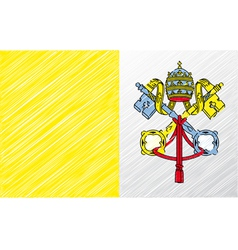 Vatican flag vector