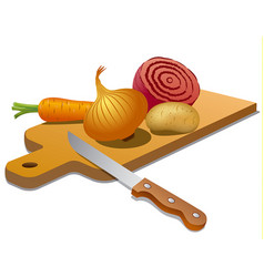 vegetables for cooking vector image