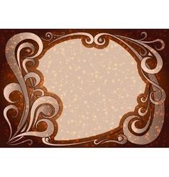 Vintage brown frame vector