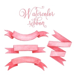 Watercolor tape Set of banners vector image