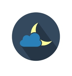 Weather icon with moon and cloud vector image