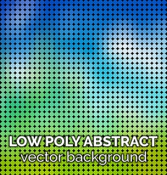 Low poly abstract background Green grass and sky vector image