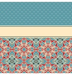 Card with seamless floral wallpaper pattern vector