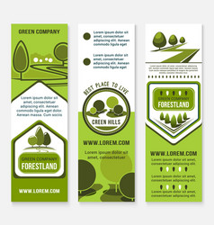 Green eco landscape design company banners vector