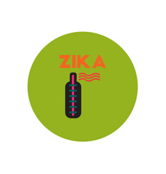 Icon on circle various symptoms of zika vector