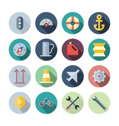 Flat Design Icons For Transportation vector image