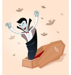 awakening vampire vector image
