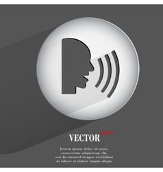 Talk flat modern web button with long shadow and vector