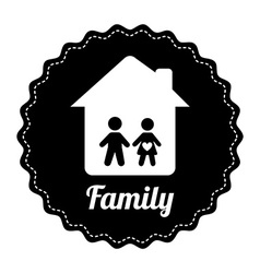 Famly home design vector