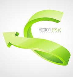 3d arrow artwork vector image vector image