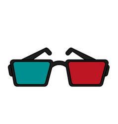 3d glasses icon image vector
