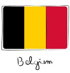 Belgium flag doodle vector