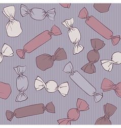 Vintage candy pattern vector