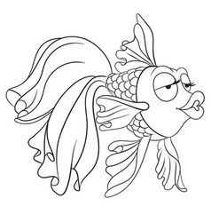 Beautiful goldfish vector
