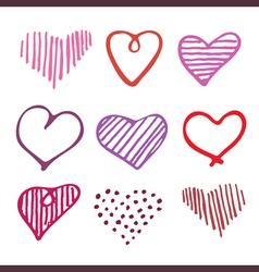 Love seamless pattern romantic doodle hearts vector
