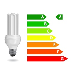 Energy efficiency light bulb vector