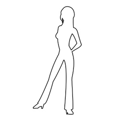 Woman standing icon vector
