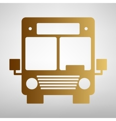 Bus sign flat style icon vector