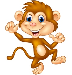 Cartoon monkey silly face vector