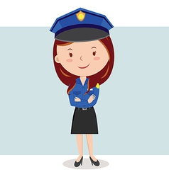 Cartoon police officer or policewoman vector