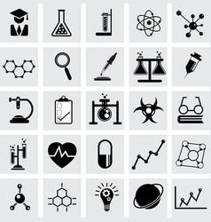 Chemistry and science icon vector