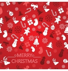 Christmas background seamless tiling great vector image vector image