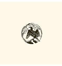 Cormorant Logo vector image vector image