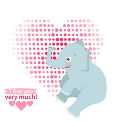 drawn by animal elephant declaration of love vector image