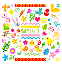 Easter holiday icons vector