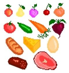 Food pixelart vector image