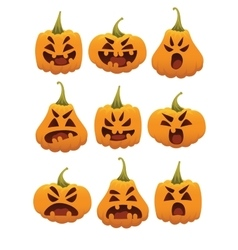 Funny Smiling Halloween Pumpkins vector image vector image