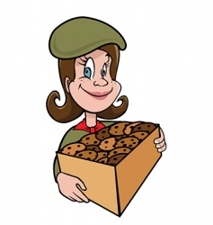 girl scout vector image