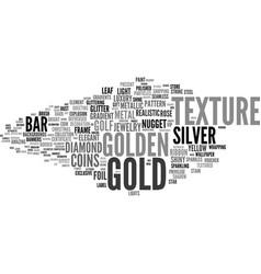Gold word cloud concept vector