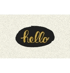 Hello lettering with dot on white background vector image vector image