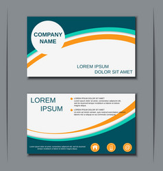 Modern business visiting card design vector