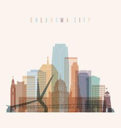 Oklahoma city state oklahoma skyline vector