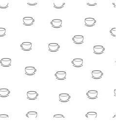 pattern with black and white cups vector image