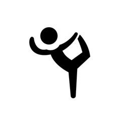 Pilates - gymnastics - practice - exercise icon vector