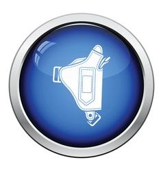 Police holster gun icon vector