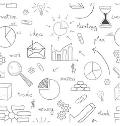 seamless business icon background vector image vector image